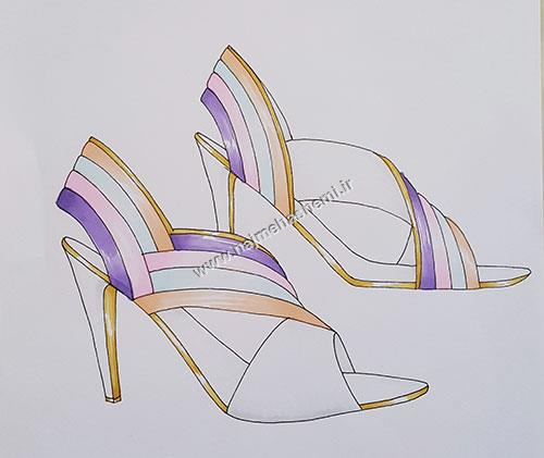 طرح کفش نجمه هاشمی9