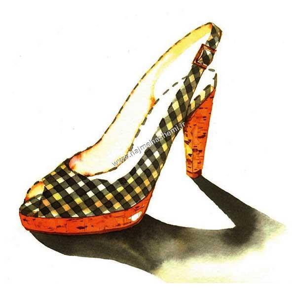 نمای سه رخ در طراحی کفش