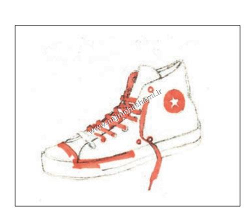اسکیس اولیه کفش ورزشی