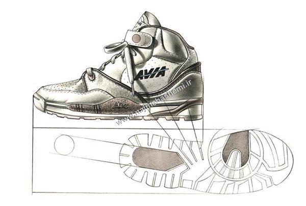 طرح کفش ورزشی