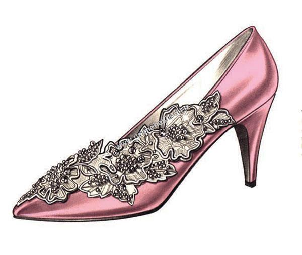 اجرای نگین در طراحی کفش عروس