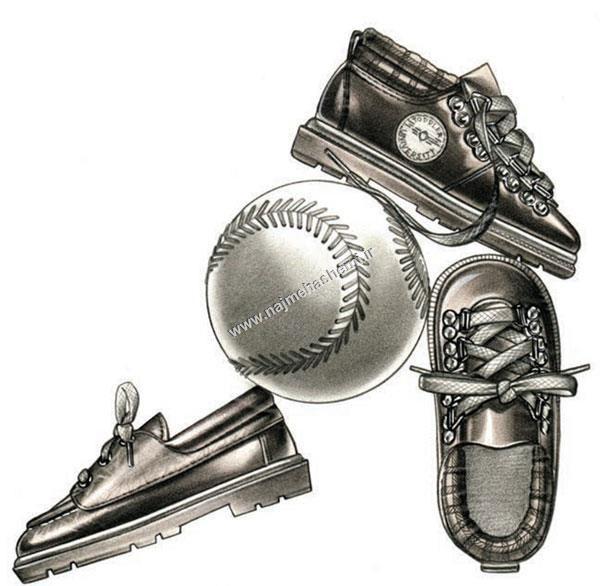 طراحی کفش بچه گانه