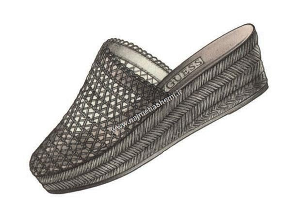 طراحی کفش دمپایی یا اسپادریل