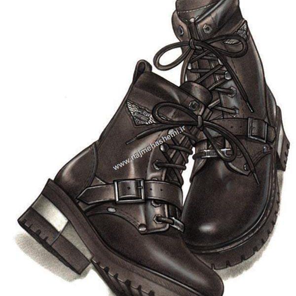 طراحی کفش کار یا چکمه هاکی
