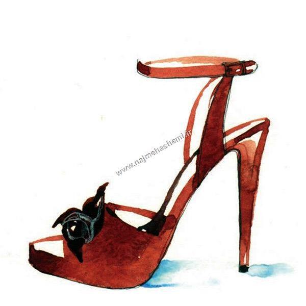 طراحی کفش لژدار