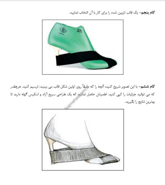 آموزش طراحی مجموعه کفش